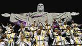 Die SambaschuleUnidos da Tijuca bezieht sich beiihremKarnevalauftritt auch auf christliche Motive