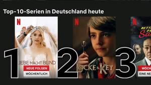 Screenshot Netflix Startseite