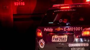 Polizeifahrzeug in Brasilien
