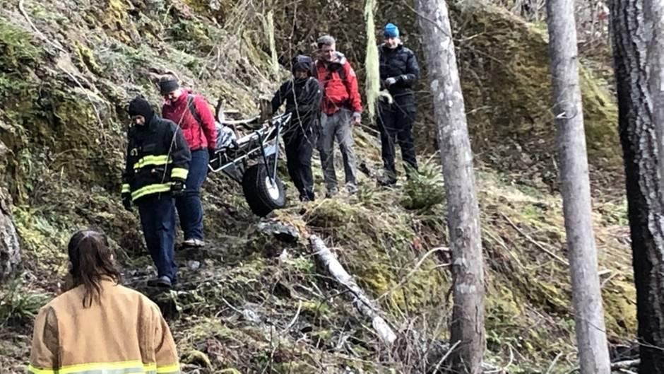 Das erste Rettungsteam, das Oldendorf erreichte, musste etwa vier Meilen durch die Wildnis wandern
