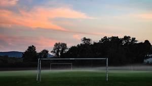 Fußballplatz als Symbolfoto für Nachrichten aus Deutschland