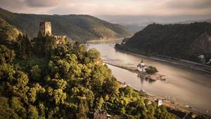Das Panorama von Burg Gutenfels