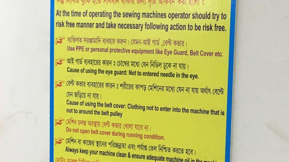 Das Personal wird angewiesen, Sicherheitsvorkehrungen einzuhalten