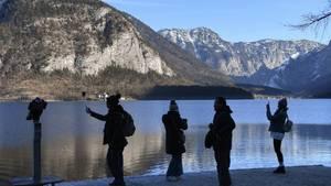 Keine Touristen wegen Coronavirus in Hallstatt