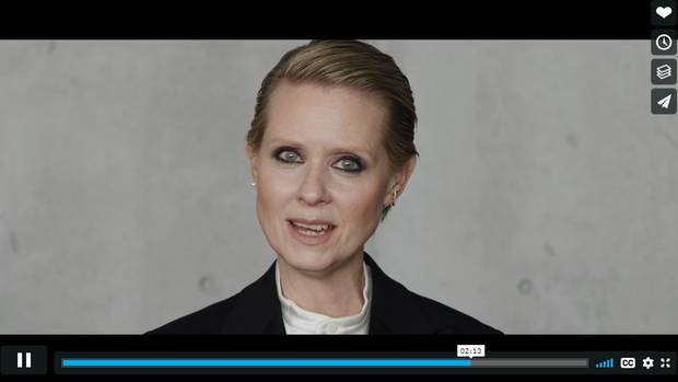 """Be a Lady They Said"" Cynthia Nixon"