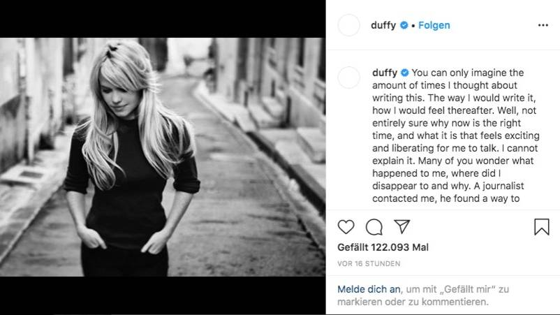 """Sängerin Duffy: """"Ich wurde vergewaltigt, unter Drogen gesetzt und gefangen gehalten"""""""