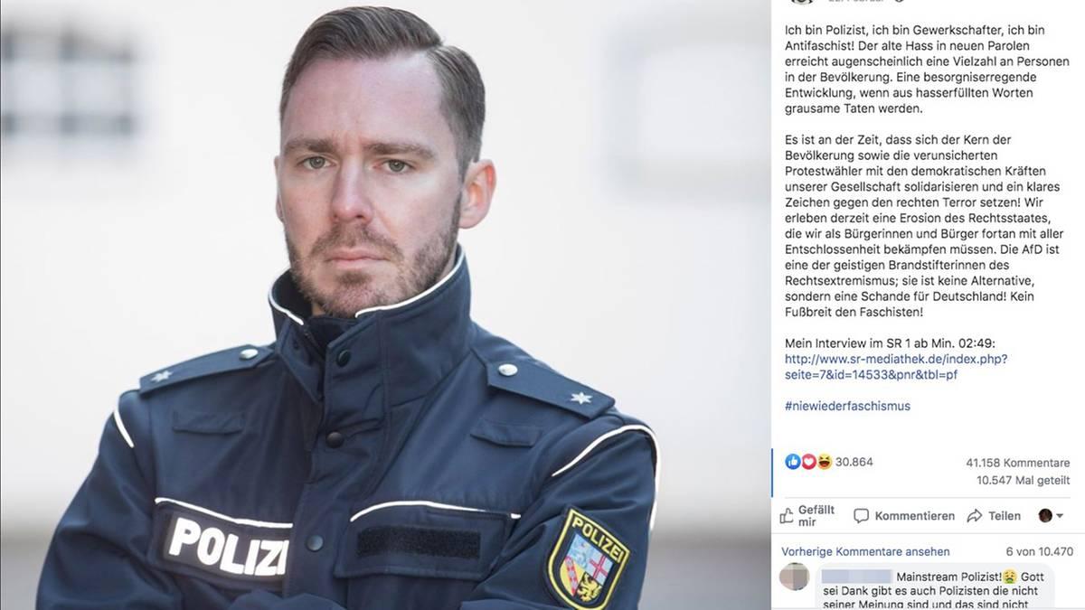 Polizist kritisiert die AfD – der Partei-Vize fordert jetzt ein Verfahren gegen ihn