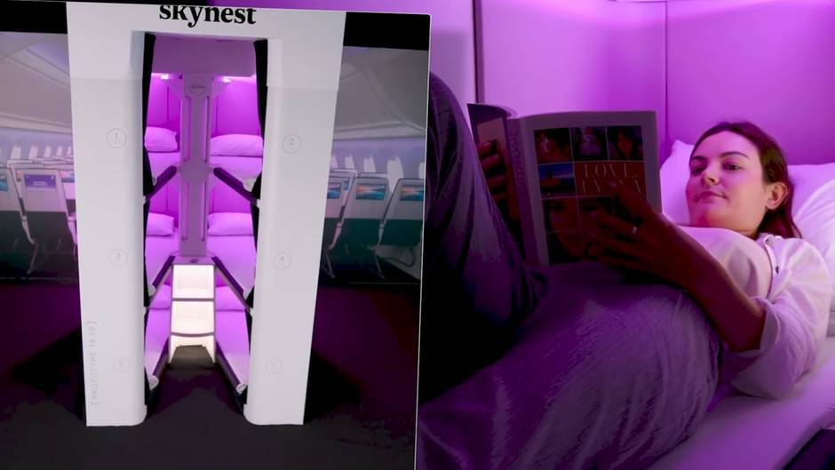"""""""Skynest"""": Auch für Economy-Fluggäste: Air New Zealand plant Betten in neuen Flugzeugen"""