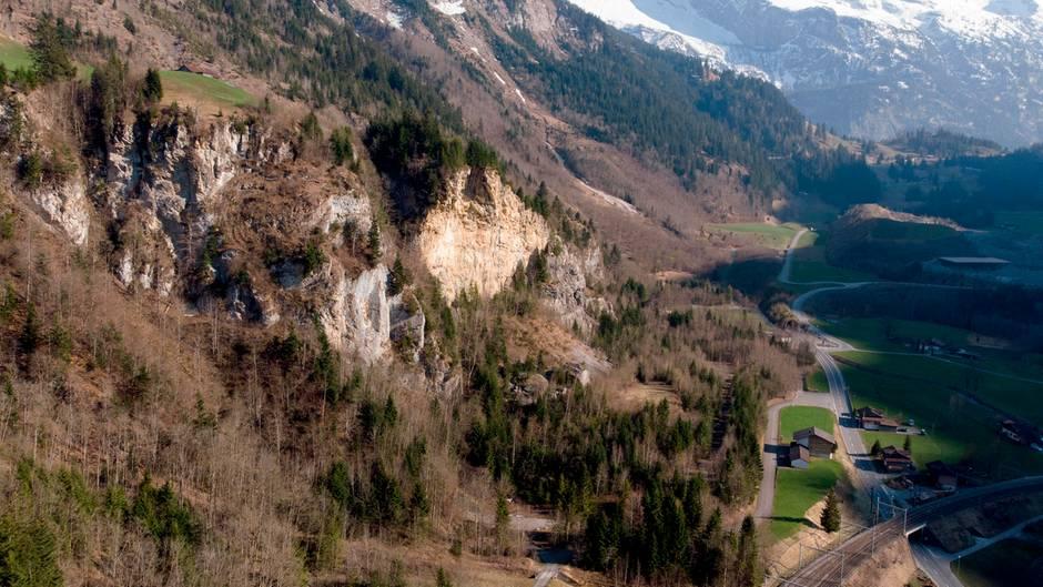 Schweiz, Mitholz: Das Gebiet um das ehemalige Munitionslager in Mitholz