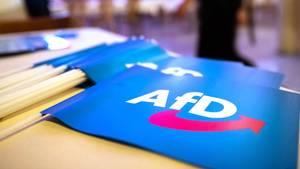 Fähnchen mit dem Logo der AfD