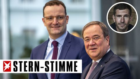 Jens Spahn (l.) und Armin Laschet