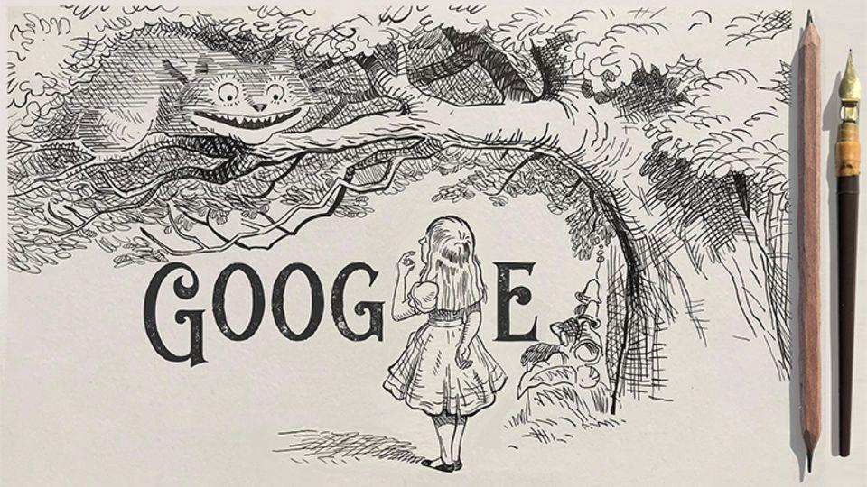Google Doodle für Sir John Tenniel