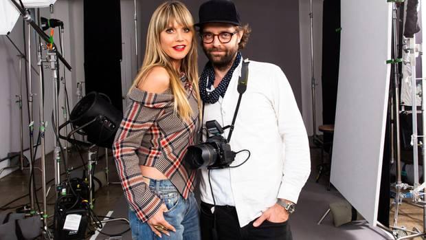 Heidi Klum und Fotograf Christian Anwander