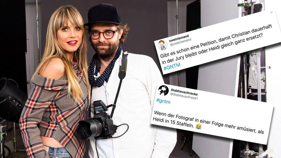 GNTM: Fotograf Christian Anwander muss für Heidi Klum bei der Umstyling-Folge einspringen.