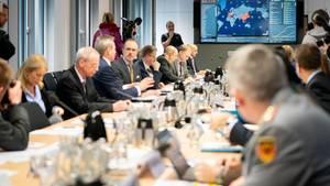Der Krisenstab der Bundesregierung kommt zu seiner Sitzung zusammen