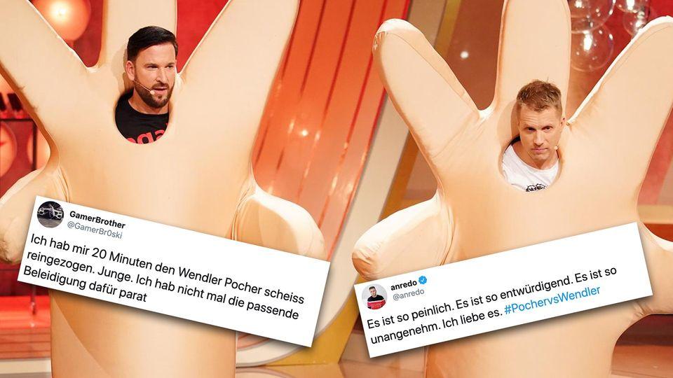 Wenlder und Pocher TV-Duell: Twitter findet das Spektakel einfach nur peinlich