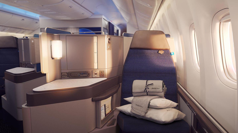In dieser Reiseklasse sollte es ursprünglich nach Hawaii gehen: Sitzplatz in der neuen United Polaris Business Class