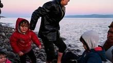 Flüchtlinge erreichen die Insel Lesbos