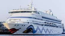 """Im norwegischen Haugesund sitzt die """"Aida Aura"""" fest. Zwei Passagiere fürchten, sich mit dem neuen Coronavirus angesteckt zu haben."""
