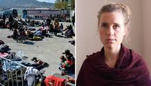 Gewalt gegen Flüchtlinge und Journalisten: Franziska Grilmeier berichtet von Lesbos