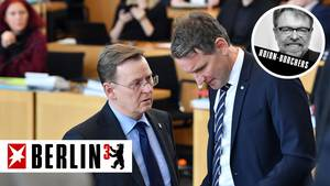 Bodo Ramelow (Linke, l.) gegen Björn Höcke (r.): Ausgang ungewiss