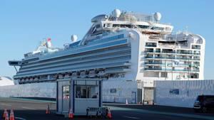 Die Diamond Princess steht im Hafen von Yokohama