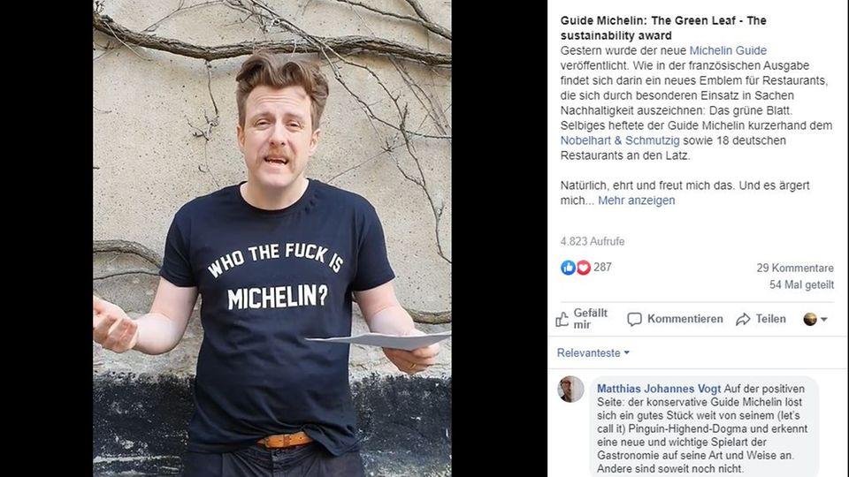 """Billy Wagner, Inhaber des Berliner Restaurants """"Nobelhart & Schmutzig"""", kritisiert die neue Auszeichnung des Guide Michelin."""