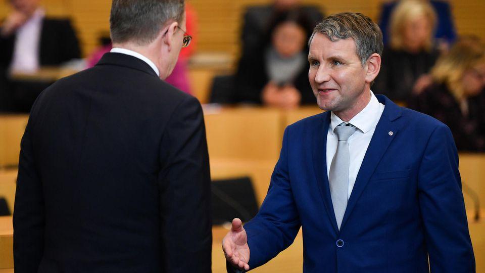 Thüringen: Höcke kritisiert Ramelow für Verweigern des Handschlags