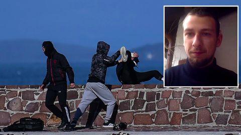 """Lesbos: Angriff auf Videojournalisten: """"Darum habe ich die Insel verlassen (müssen)"""""""