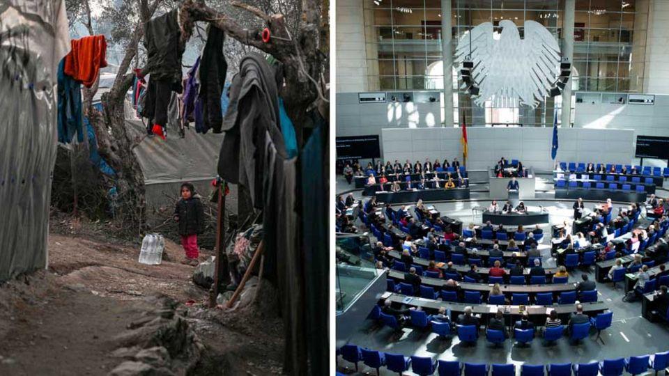 Fküchltingslager auf Lesbos; Bundestag