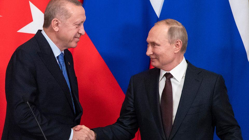 Handshake zwischen Erdogan und Putin zu Waffenstillstand in Idlib
