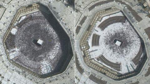 Wegen Coronavirus: Die Menschenmassen um den Kaaba in Mekka sind deutlich kleiner