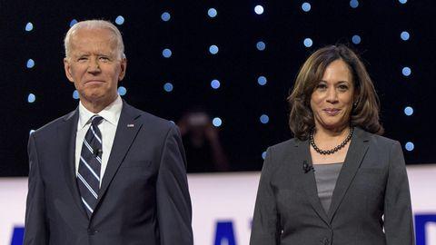 Joe Biden (l.) und Kamala Harris