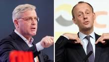 Bewerber um den CDU-Parteivorsitz: Norbert Röttgen (l.) und Friedrich Merz