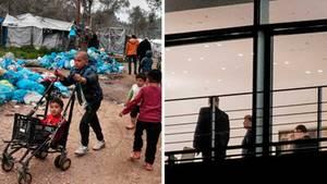 Flüchtlinge auf Lesbos; Groko-Sitzung im Kanzleramt