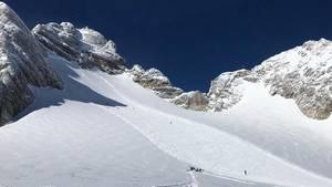 Der schneebedeckte Dachstein