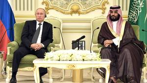 Wladimir Putin (links) und Mohammed Bin Salman