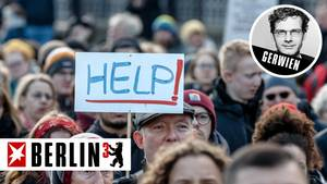 Teilnehmer einer Solidaritätsdemonstration für die Flüchtlinge an der griechisch-türkischen Grenze