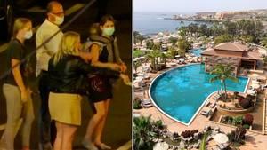 Coronavirus: Teneriffa-Hotelgäste feiern Quarantäne-Ende mit symbolträchtiger Geste