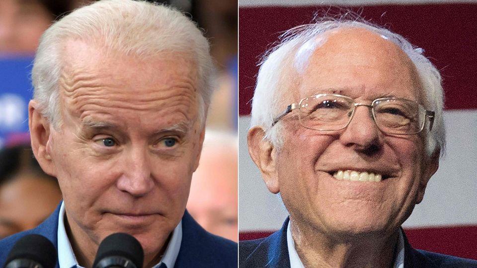 Die Demokraten Joe Biden (l.) und Bernie Sanders
