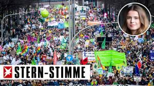 """Teilnehmer einer """"Fridays for Future""""-Demonstration in Hamburg"""