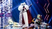 """Die Figur """"Der Dalmatiner"""" steht in der Prosieben-Show """"The Masked Singer"""" auf der Bühne"""