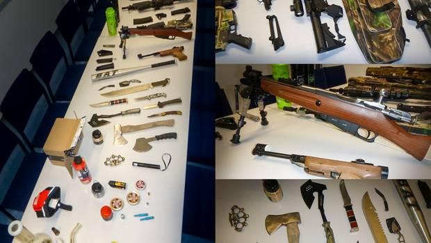 Nachrichten aus Deutschland: Die Polizei fand ein ganzes Waffenarsenal