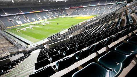 Das leere Stadion Borussia-Park