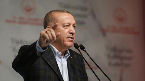Recep Tayyip Erdogan (M), Präsident der Türkei