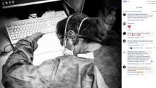 Das Bild der KrankenschwesterElena Pagliarini sorgte für Bestürzung in Italien.