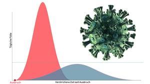 Grafik zum Coronavirus