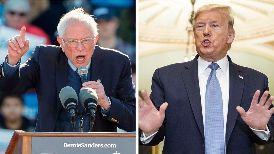 Bernie Sanders (l.) wollte Donald Trump aus dem Weißen Haus schmeißen