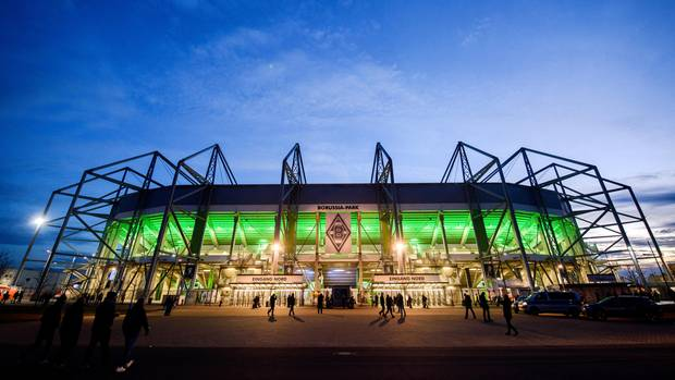 Das Stadion Borussia-Park in Mönchengladbach