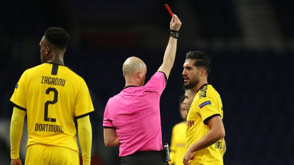 Emre Can sieht die Rote Karte im Spiel gegen PSG